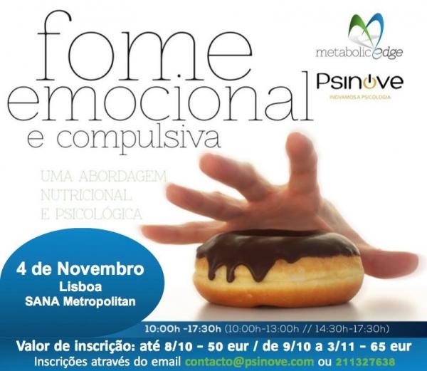 Workshop Fome Emocional e Compulsiva: uma abordagem psicológica e compulsiva
